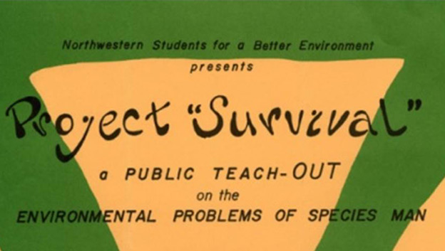 A green and yellow flyer advertising an event called Project Survival